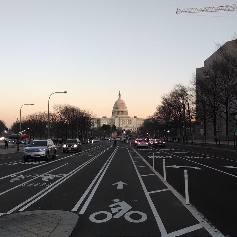 U.S. Capitol at dusk #nofilter