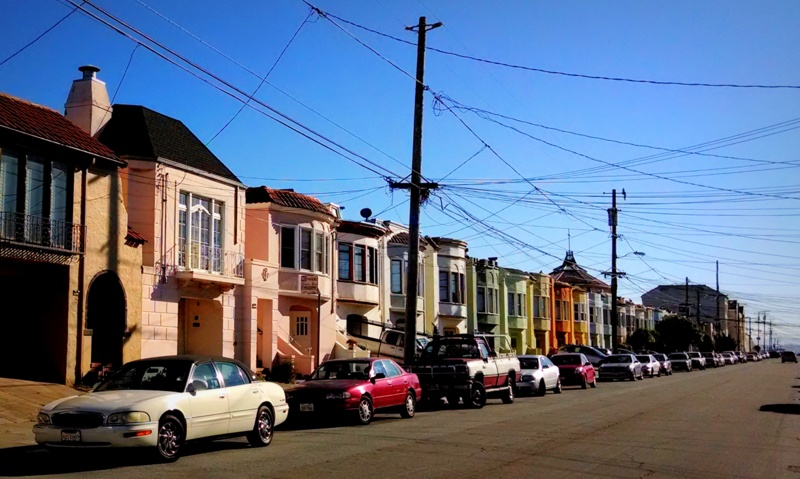 40th Ave, between Kirkham and Lawton - Outer Sunset