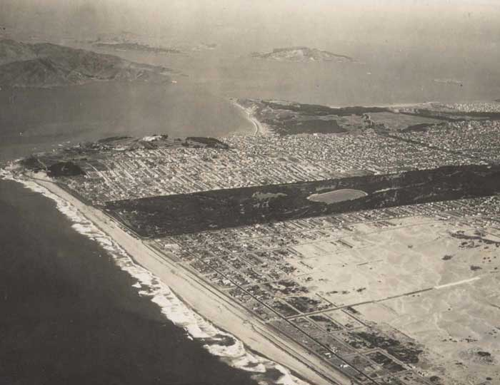 West side of San Francisco (1920's?) via Outsidelands.org