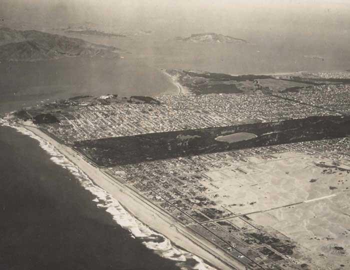 West side of San Francisco (1920's?) via Outsidelands.org