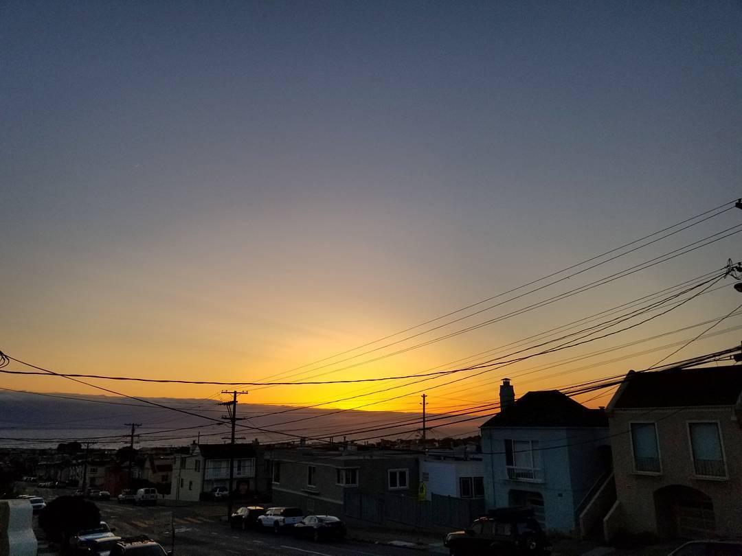 #sunset / #Pacific + @karlthefog